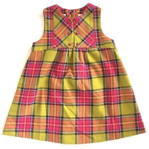 SARAH LOUISE ENGLAND PLAID SLEEVELESS DRESS 3Y/3T